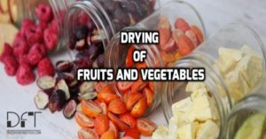 Drying Of Fruits and Vegetables