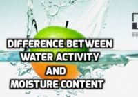Difference Between Moisture Content And Water Activity